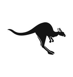 Kangaroo icon simple style vector image