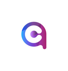 letter a c rounded logo designs inspiration vector image