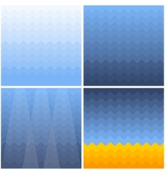 marine background with waves gradient vector image vector image