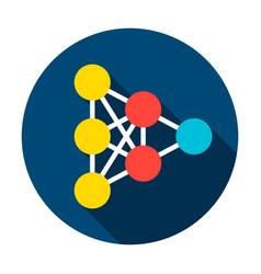 neural network graph circle icon vector image