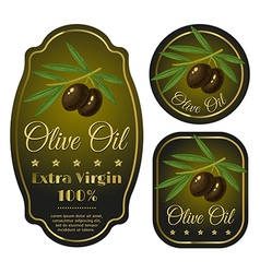 Olive black label vector