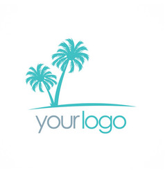 Palm tree tropic logo vector