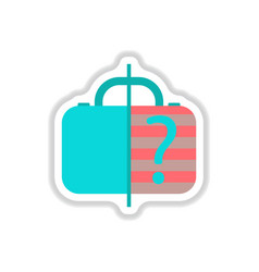 Paper sticker on white background x-ray baggage vector