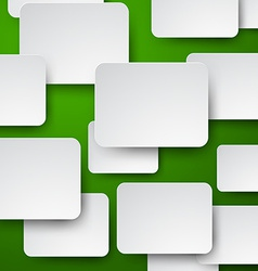 Paper white notes on green vector