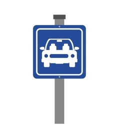 Parking zone sign isolated icon vector