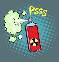 Radioactive waste gas vector