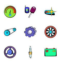 repair icons set cartoon style vector image