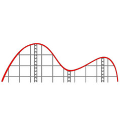 Roller coaster track on white background vector
