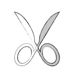 scissors silhouette isolated icon vector image