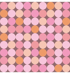 Seamless pattern or background with huge dots vector image