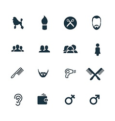 set of barbershop icons vector image