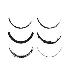 Smile brush compilation black and white template vector