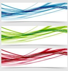 Soft speed rapid wave swoosh line header layout vector