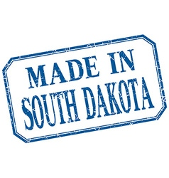 South Dakota - made in blue vintage isolated label vector