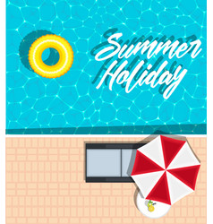 summer holiday banner with space for text vector image