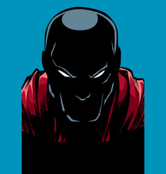 Superhero portrait silhouette vector