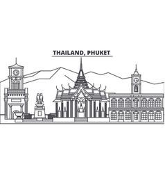 thailand phuket line skyline vector image