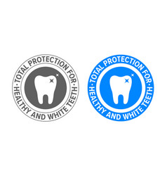 tooth logo for toothpaste and teeth whitening vector image