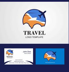 Travel tierra del fuego province argentina flag vector