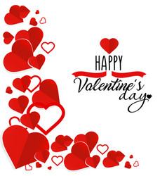 valentine s day greeting vector image
