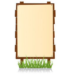 vertical wood billboard vector image