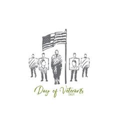 Veteran day concept sketch isolated vector