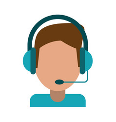 Video gamer with headset vector