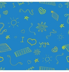 Yoga sign seamless pattern background vector image
