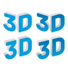 3d sign vector image vector image