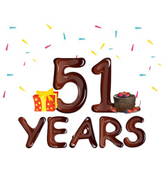 51st years greeting card vector image vector image