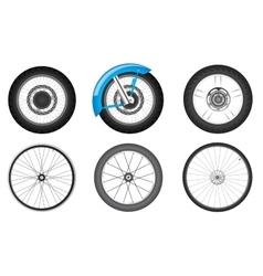 bike wheel set vector image vector image