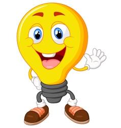 Cartoon light bulb vector image