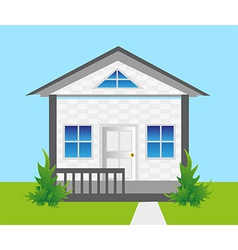 House on land vector image vector image