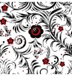 khokhloma white vector image