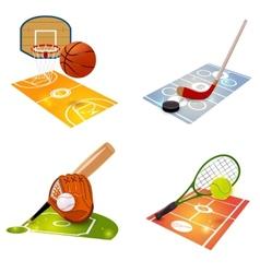 Sport Equipment Concept Set vector image vector image