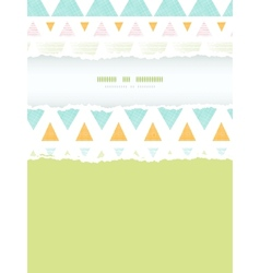Abstract ikat triangles stripes vertical torn vector image