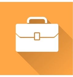 Business case icon with long shadow vector image vector image