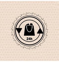 vintage retro badge tag label shopping bag vector image vector image