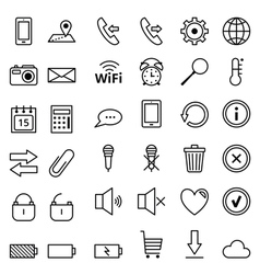 Web icons mobile phones vector