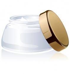 jar of a cosmetic cream vector image vector image