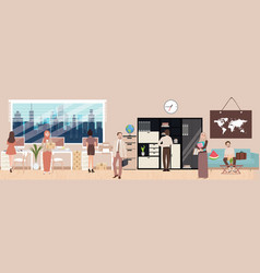 office situation employee working interior vector image