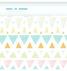 Abstract ikat triangles stripes horizontal torn vector image