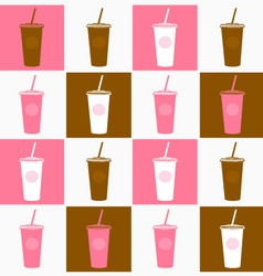 fast food cofee cup background vector image