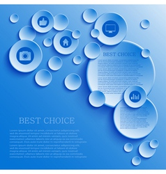 infographic background design Eps10 vector image
