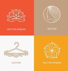 set of logo design templates and emblems vector image