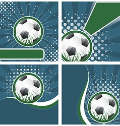 Set of soccer background in retro style vector image