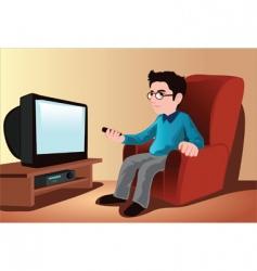 watching tv vector image