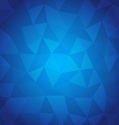 Abstract triangle with blue background vector