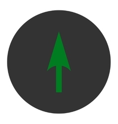 Arrow Axis Y flat green and gray colors round vector