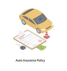 Auto insurance policy vector